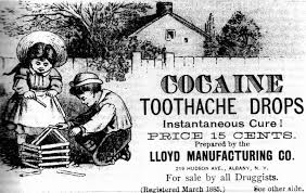 cocaine tooth drops, wikimedia commons