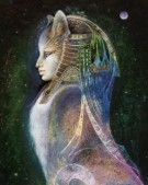Bastet, the Cat Goddess of Egypt, from Goddess Knowledge Cards, artwork by Susan Boulet