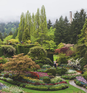 Butchart Gardens, Brentwood Bay, British Columbia, page 114, courtesy of Quirk Books