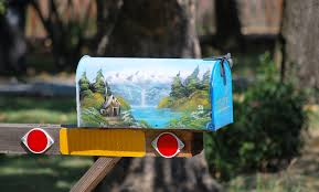 custom painted mailbox, wikimedia commons