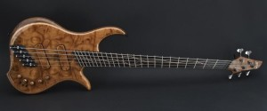 A Dingwall Prima Artist bass guitar that features Fanned Frets, wikipedia