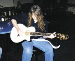 Stephen Helmes playing guitar, myspace.com