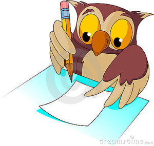 an owl writing clip art, clipartpanda