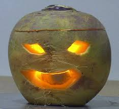 Jack-o'-Lantern made from a turnip, wikipedia