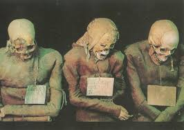 mummies in the Monks' Corridor of the Catacombe dei Cappuccini, wikipedia