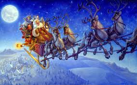Santa and his reindeer, pixhome.blogspot.com