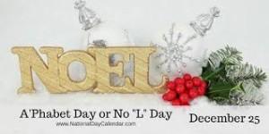 """A'phabet Day or No """"L"""" Day, www.nationaldaycalendar.com"""