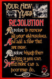 New Year's resolution postcard, wikimedia commons