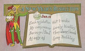 a New Year's resolution, wikimedia commons