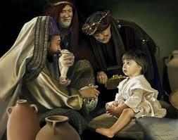 three magi visiting Jesus, www.jesus-story.net