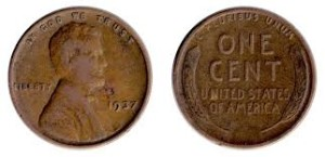 a 1937 wheat penny, wikipedia