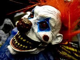 evil, bloody clown face, public domain