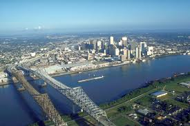the Crescent City Connection and the New Orleans skyline, wikipedia